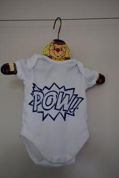 """""""POW"""" baby onesie"""