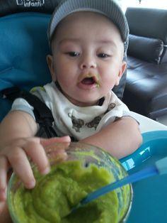 Brocoli papa dulce camote y pollo al vapor licuado y listo bebes de 6 a 12 meses comida - Pures bebes 6 meses ...