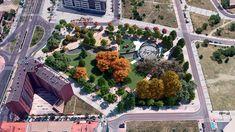 Nuevo parque en Plaza de la Comunicación. Valladolid. Plaza, Parks