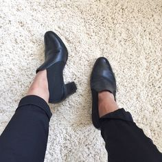 Rockport Black Heeled Booties Amazing comfy and chic booties with elastic sides for comfort and movement, small signs of normal wear and light marks shown in photos but overall in great preloved condition! Great with pants or skinny jeans :) No trades or PayPal please :) Rockport Shoes