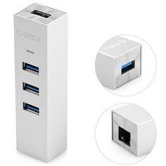ORICO ASH3L-U3 3 puertos USB 3,0 Gigabit Ethernet adaptador Hub 5Gbps cuerpo aleación de aluminio. Hoy con el 23% de descuento. Llévalo por solo $92,300