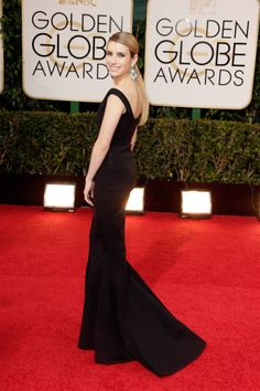 ELLE's 10 Best Dressed at the 2014 Golden Globes: Emma Roberts, Lanvin