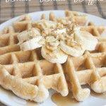 Banana Nut Whole Wheat Waffles
