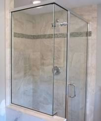 Shower enclosure w/glass accent - contemporary - bathroom tile - bridgeport - Cook & Kozlak Flooring Center, Inc. Bad Inspiration, Bathroom Inspiration, Glass Tile Shower, Contemporary Tile, Master Bathroom Shower, Shower Enclosure, Bath Decor, Bath Design, Bathroom Designs