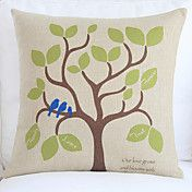 "18"" Green Leaves Tree Cotton/Linen Decorative... – USD $ 14.99"