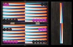 Ara Peterson - beautiful and colorful backgammon boards