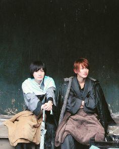 Ryunosuke Kamiki and Takeru Sato - Rurouni Kenshin film set
