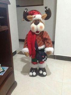 Navidad Ideas, Reno, Xmas, Christmas, Reindeer, Santa, Teddy Bear, Holiday Decor, Crochet