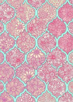 Love this take on the quatrefoil surface pattern design, pattern art, fabric patterns, Motifs Textiles, Textile Patterns, Textile Design, Indian Patterns, L Wallpaper, Pattern Wallpaper, Surface Pattern Design, Pattern Art, Backgrounds Wallpapers