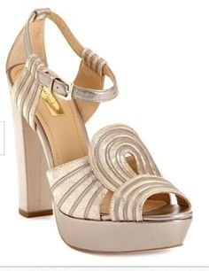~Art deco shoes in a nude/silver~