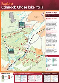 Cannock Chase Bike Trails (UK) - MTB Cross Country Map, starts at Birches Valley Forest Centre - WS15 2UQ.