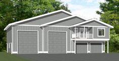 PDF house plans, garage plans, & shed plans. Garage Apartment Floor Plans, Bedroom Floor Plans, Garage Plans, Shed Plans, Cabin Plans, Building A Small Cabin, Building A Pole Barn, Garage To Living Space, Garage Guest House