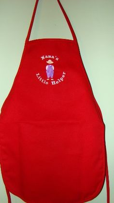 "Gardening aprons - Pin it :-) Follow us :-)) zGardensupply.com is your Garden Supply Gallery ;) CLICK IMAGE TWICE for Pricing and Info :) SEE A LARGER SELECTION of gardening aprons at http://zgardensupply.com/category/garden-supply-categories/gardening-clothing-gear/aprons/ -  garden, gardening, gardening gear, gardening clothes, garden aprons - Boy's Red "" Nana's Little Helper "" Embroidered Child's Apron « zGardenSupply"