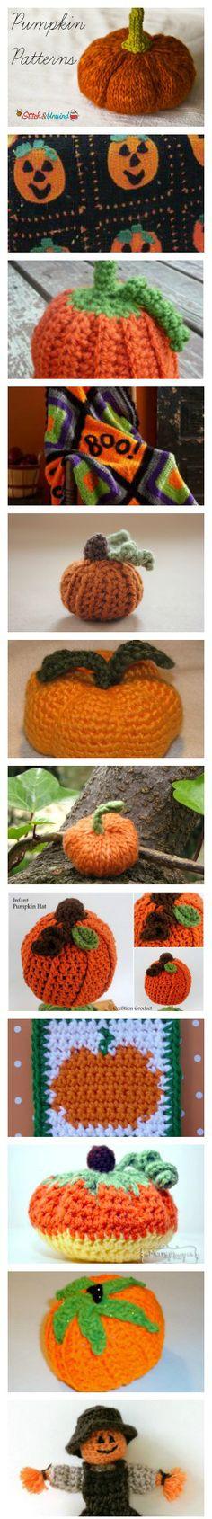 Pumpkin Patterns1 The Best Collection of Pumpkin Crochet & Knitting Patterns