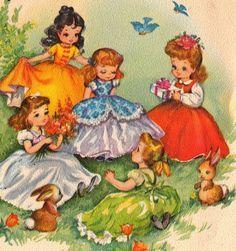 Birthday: Children's Vintage Cards and Illustrations on Pinterest ...