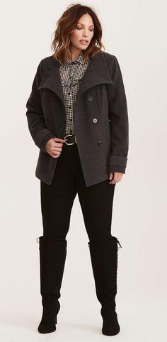 Plus Size Peacoat #plussize #coat
