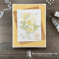 The Shaded Summer Sorry for Your Loss card is full of texture. It has several layers, some of which are a little marred. I love giving my cards texture, and Box Of Sunshine, Color Contour, Stampin Pretty, Sorry For Your Loss, Ink Splatter, Wink Of Stella, Pretty Cards, Coordinating Colors, Sympathy Cards