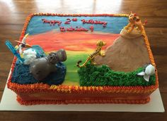 "Marble ""The Lion Guard"" Birthday Cake"