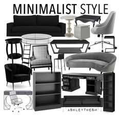 """""""m i n i m a l i s t s t y l e"""" by ashleythesm ❤ liked on Polyvore featuring interior, interiors, interior design, home, home decor, interior decorating, SCP, Kelly Hoppen, Hooker Furniture and Eichholtz"""