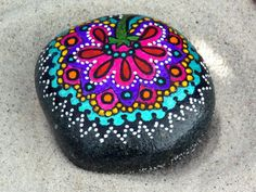 Celestial Bloom / Painted Rock / Sandi Pike by LoveFromCapeCod