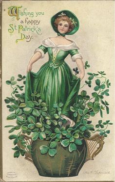 st patrick's day vintage images | St. Patrick's Day vintage postcard Clapsaddle 1910