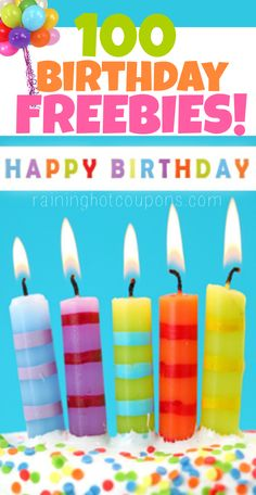 Birthday Freebies: HUGE List of Over 100 Birthday Freebies from Restaurants (FREE Starbucks, Ice Cream, Meals, Donuts)
