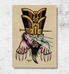 Big Trouble Little China David Lo Pan Print 5x7 by by SMTCprints