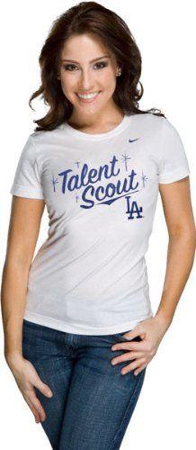 $24.99 nice Nike Women's MLB Attitude T12 Dodgers Crew Neck T Shirt Medium White