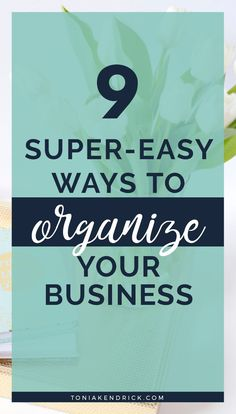 How to organize your business for success. Here are 9 easy small business tips to help you get organized so that you work smarter. Get started today! Business Credit Cards, Business Money, Business Goals, Start Up Business, Business Entrepreneur, Business Management, Business Planning, Business Ideas, Small Business Organization
