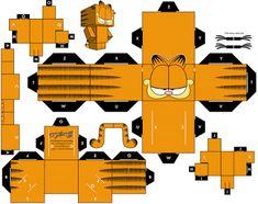 Garfield-Cubecraft for kids 3d Paper Crafts, Paper Toys, Foam Crafts, Paper Cube, Paper Animals, Paper Folding, Paper Models, Origami Paper, Oragami