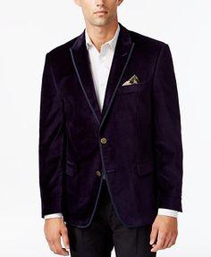 Zanetti Purple Velvet Two Button Notch Lapel Sport Coat | Men's ...