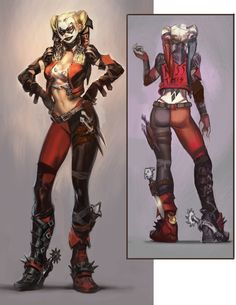 Toyriffic: Harley Qwednesday :: Injustice Alternate Earth Harley Quinn concept art