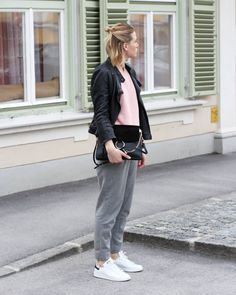 tifmys – Zara leather jacket, Believe e knit sweater, Chloé Faye Bag, Massimo Dutti pants & Adidas Stan Smith sneakers.