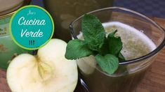 Matcha Tea Lemonade With Green Apple Matcha Tee, Lemonade, Cantaloupe, Pudding, Apple, Tea, Fruit, Green, Desserts