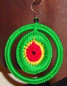 Saturn RGG Crochet Earrings