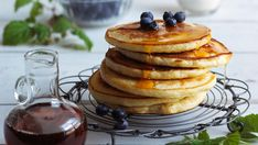 no Pancakes And Waffles, Frisk, Muesli, Dessert Recipes, Desserts, Crepes, Lunch, Baking, Breakfast