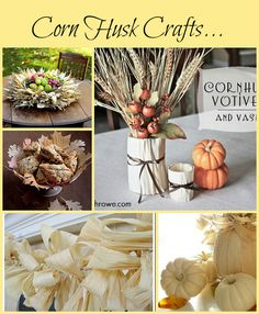 A great collecton of Corn Husk Crafts