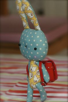 backpack bunny made by isa :)