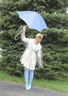 why????   Fashion Transparent Rain Coat OASAP.com