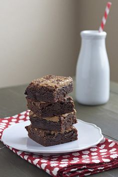 Peanut Butter Kahlua Brownies are thick, chewy, fudgey, and absolutely delicious.