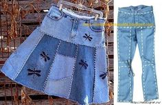 DIY Ideas to Refashion Old Jeans Free Templates: Top DIY Ideas to Repurpose Old Jeans into New Fashion Diy Jeans, Reuse Jeans, Diy Clothes Refashion, Diy Clothes Videos, Mode Jeans, Denim Ideas, Denim Crafts, Jeans Rock, Refashioning