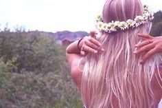 flower crown and her hair colour! Hair Inspo, Hair Inspiration, Wedding Inspiration, Flower Headpiece, Salon Style, Cute Hairstyles, Hairdos, Wedding Hairstyles, Hair Goals