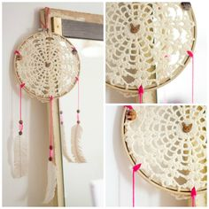 such a cute crochet idea to use your old yarn stash!  just need to gather some feathers from the seaside Instants