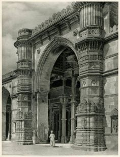 Gateway of Jama Masjid, Ahmedabad, Gujarat - India, 1928