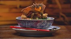 Szechuan and Coriander Mud Crab with Aromatic Chinese Broccoli