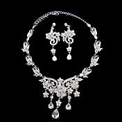 Silver Flowers Ladies' Jewelry Set Including ... – USD $ 39.99