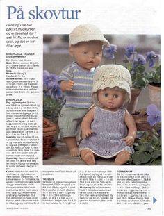 Album Archive - Dukketøj til Baby Born 1 - Ingelise Knitted Doll Patterns, Knitted Dolls, Crochet Dolls, Knitted Hats, Ag Dolls, Reborn Dolls, Girl Dolls, Barbie Dolls, Knitting Dolls Clothes