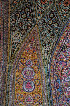 Tiles, Nasir Molik Mosque by DSLEWIS, via Flickr.