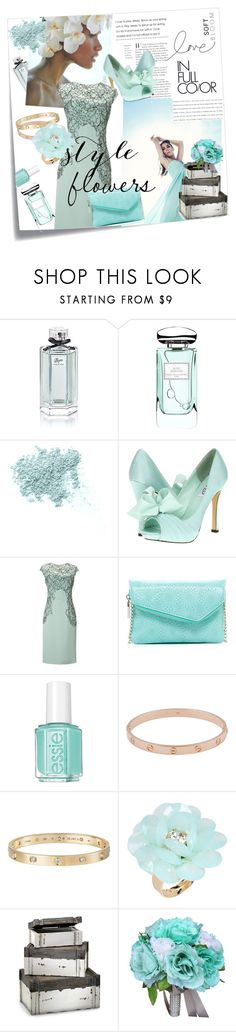 """""""Fresh florals"""" by madeline-fagan ❤ liked on Polyvore featuring Post-It, Gucci, By Terry, Bare Escentuals, rsvp, Lela Rose, HOBO, Essie, Cartier and Dettagli"""