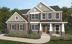 Parker Heritage in the Buckingham Preserve Community of Douglassville, PA. 4 bedrooms and 2.5 baths at the price of $314,912. #KCH #QuickMoveIns #NewHomes